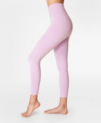 Mindful Seamless 7/8 Yoga Leggings, Aster Purple | Sweaty Betty