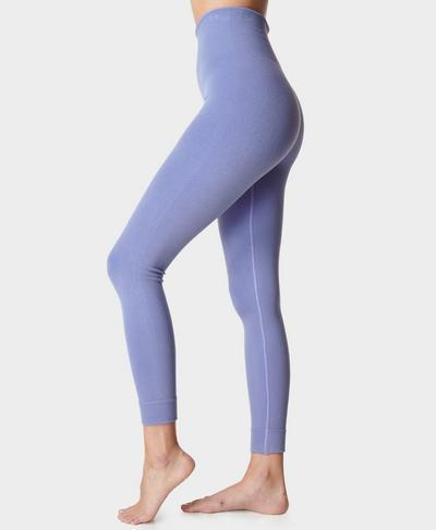Mindful Seamless Yogaleggings, Cornflower Blue | Sweaty Betty