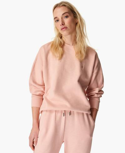 Essentials Jumper, Antique Pink | Sweaty Betty