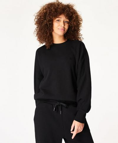 Essentials Sweatshirt, Black | Sweaty Betty