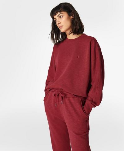 Essentials Sweatshirt, Falu Red | Sweaty Betty
