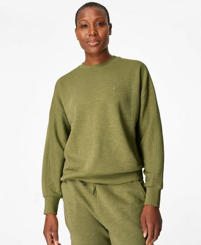 Essentials Sweatshirt, Fern Green | Sweaty Betty