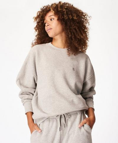 Essentials Sweatshirt, Mid Grey Marl | Sweaty Betty