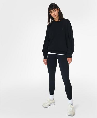 Essentials Jumper, Black | Sweaty Betty