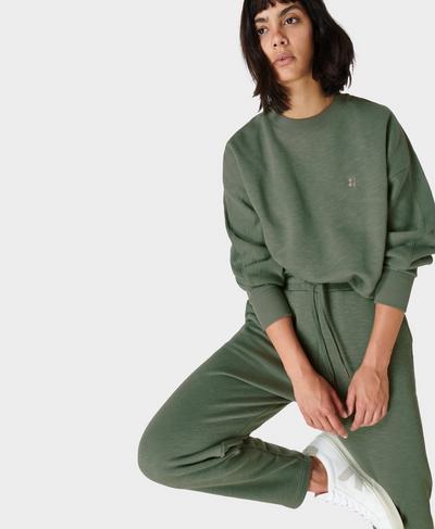 Essentials Pullover, Heath Green | Sweaty Betty