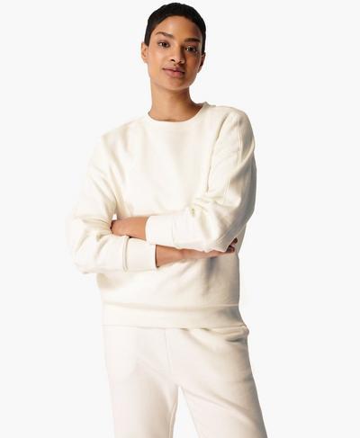 Essentials Sweatshirt, Lily White | Sweaty Betty