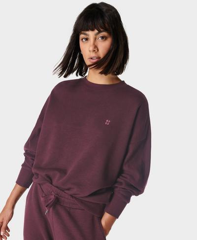 Essentials Sweatshirt, Plum Red | Sweaty Betty