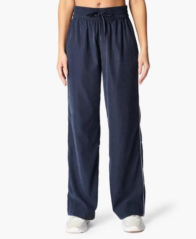 Wide Leg Jogger, Navy Blue | Sweaty Betty