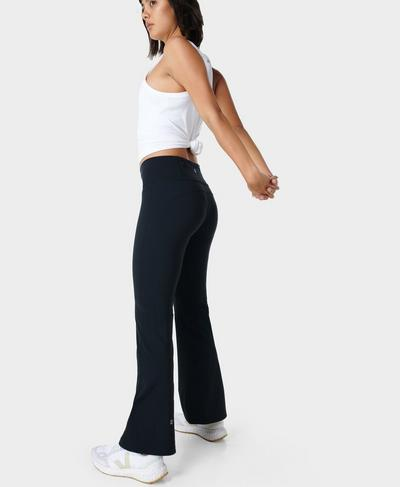 Power Kick Flare Workout Trousers, Black | Sweaty Betty