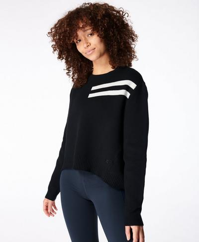 Serenity Crew Neck, Black | Sweaty Betty