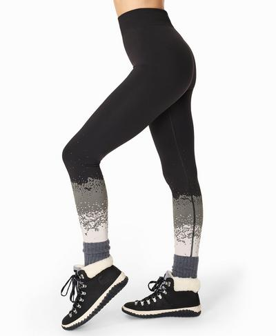 Betty Ski Base Layer Leggings, White Snowfall Jacquard | Sweaty Betty