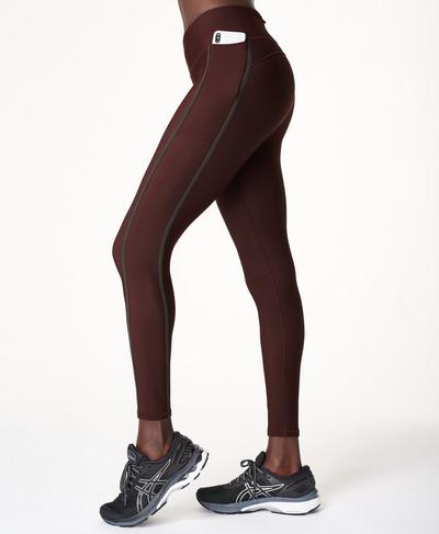 Thermodynamic Running Leggings, Black Cherry Purple | Sweaty Betty