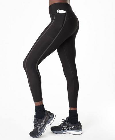 Thermodynamic 7/8 Running Leggings, Black Ref | Sweaty Betty