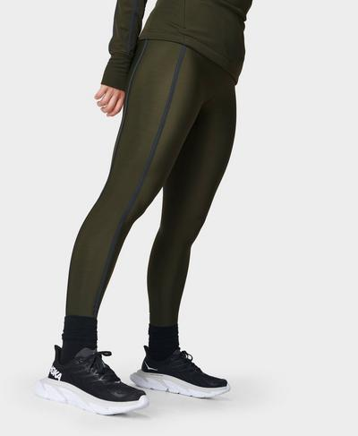 Thermodynamic 7/8 Running Leggings, Dark Forest Green   Sweaty Betty