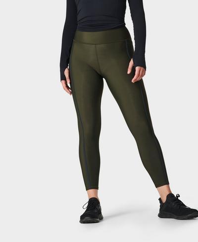 Thermodynamic Running Leggings, Dark Forest Green   Sweaty Betty