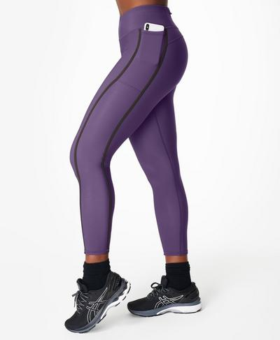 Thermodynamic 7/8 Running Leggings, Vine Purple Ref | Sweaty Betty
