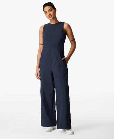 Air Flow Jumpsuit, Navy Blue | Sweaty Betty