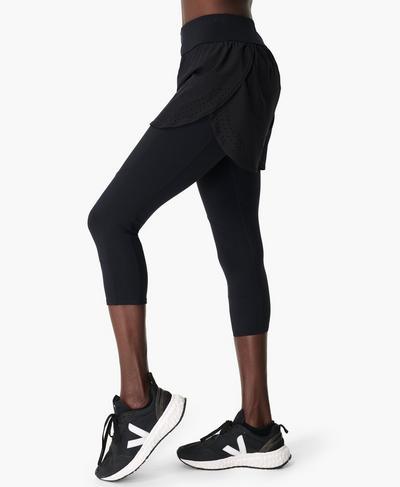 Power Double Up Fitness Leggings, Black | Sweaty Betty
