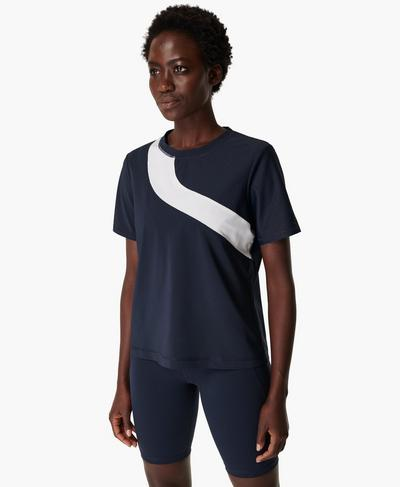 Score Gym T-shirt, Navy Blue | Sweaty Betty