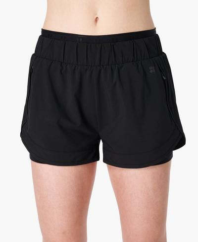 On Your Marks Laufshorts 10 cm, Black | Sweaty Betty