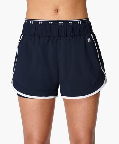 On Your Marks Laufshorts 10 cm, Navy Blue | Sweaty Betty