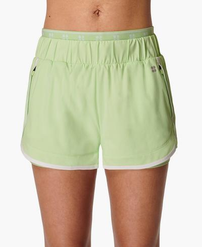On Your Marks Laufshorts 10 cm, Utopia Green | Sweaty Betty