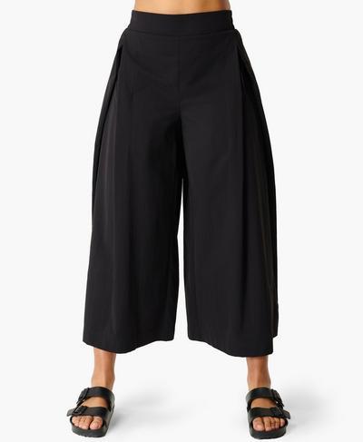 Agile Wide Leg Trouser, Black | Sweaty Betty