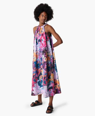 Free Fall Oversized Maxi Dress, Pink Coral Print | Sweaty Betty