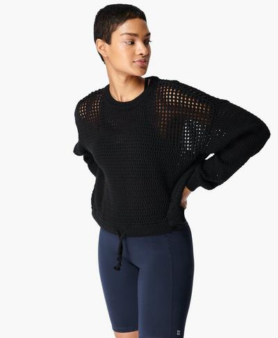 Tides High Grobstore-Pullover, Black | Sweaty Betty