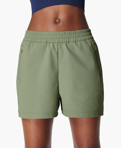 Summit Hiking Shorts, Heath Green | Sweaty Betty