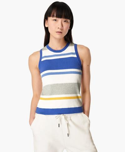 Stricktop mit Kontrastdetails, Multi Stripe | Sweaty Betty