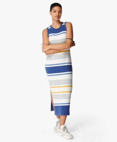 Strickmidikleid mit Kontrastdetails, Multi Stripe | Sweaty Betty