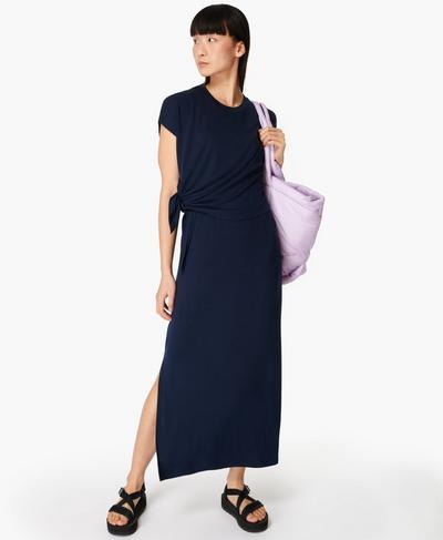 Mellow Midi Dress, Navy Blue | Sweaty Betty