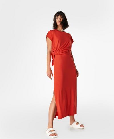 Mellow Midi Dress, Pentas Red | Sweaty Betty