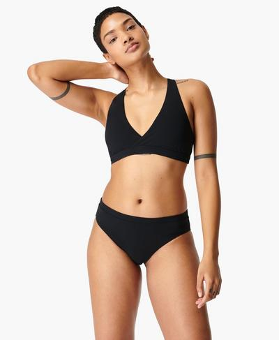 Coral Bikini Top, Black | Sweaty Betty
