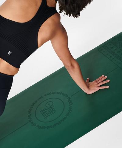 Yogi Bare X Paws Extreme Grip Yoga Mat, Dark Forest Green | Sweaty Betty
