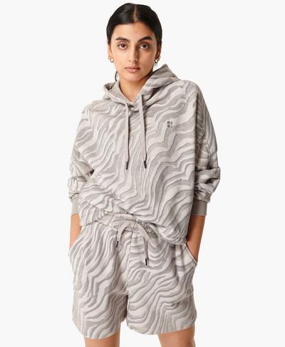 Essentials Hoody, Light Grey Zebra Print | Sweaty Betty