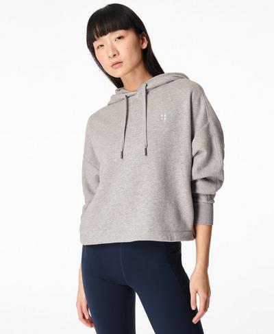 Essentials Hoodie, Mid Grey Marl | Sweaty Betty