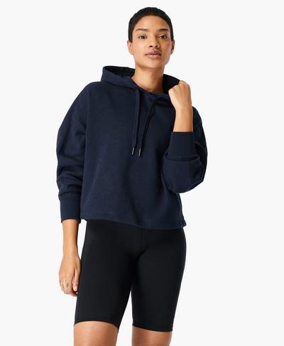 Essentials Hoody, Navy Blue | Sweaty Betty