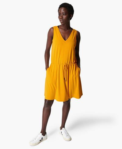 Take It Easy Dress, Golden Yellow | Sweaty Betty