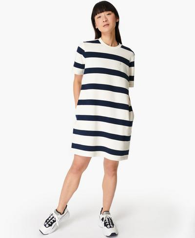 Essentials Dress, Navy White Stripe | Sweaty Betty