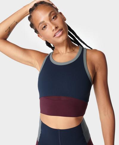 Power Frame Gym Vest, Steel Blue | Sweaty Betty