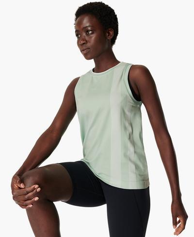 Triumph Seamless Workout Vest, Utopia Green | Sweaty Betty