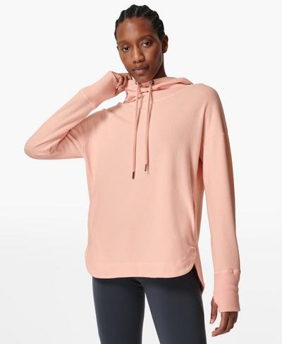 Escape Luxe Fleece-Hoodie, Antique Pink | Sweaty Betty