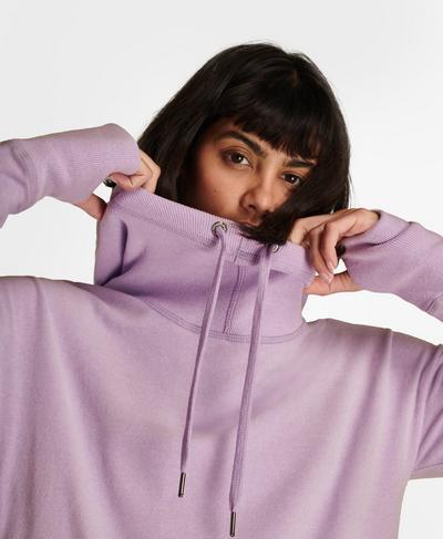 Escape Luxe Fleece Hoodie, Aster Purple | Sweaty Betty