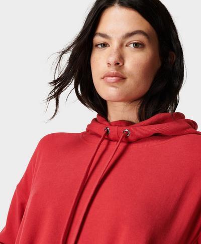 Escape Luxe Fleece Hoody, Cardinal Red | Sweaty Betty