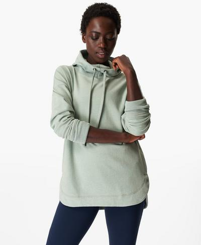 Escape Luxe Fleece Hoodie, Marina Green | Sweaty Betty