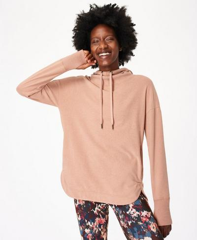 Escape Luxe Fleece Hoody, Misty Rose Pink | Sweaty Betty