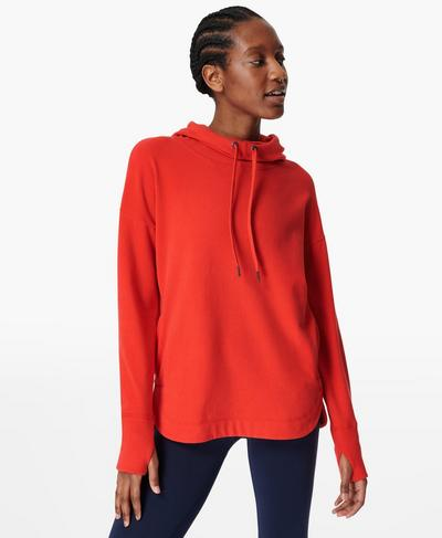Escape Luxe Fleece Hoodie, Rich Red | Sweaty Betty