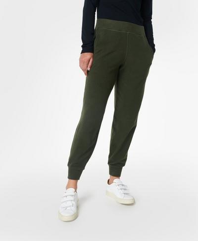 "Gary Luxe 29"" Fleece Trousers, Mountain Green | Sweaty Betty"
